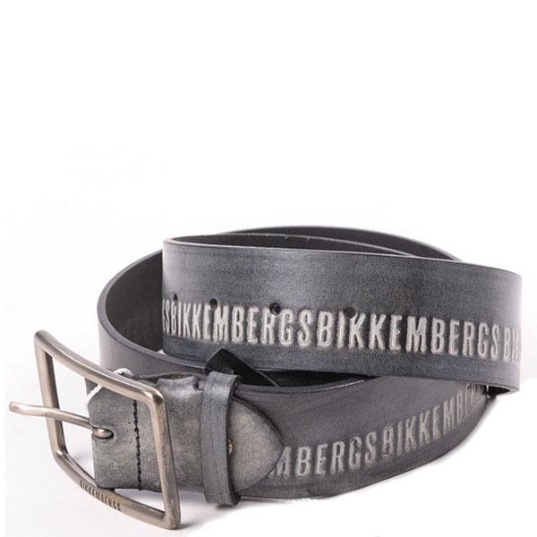 Серый ремень Bikkembergs с логотипом