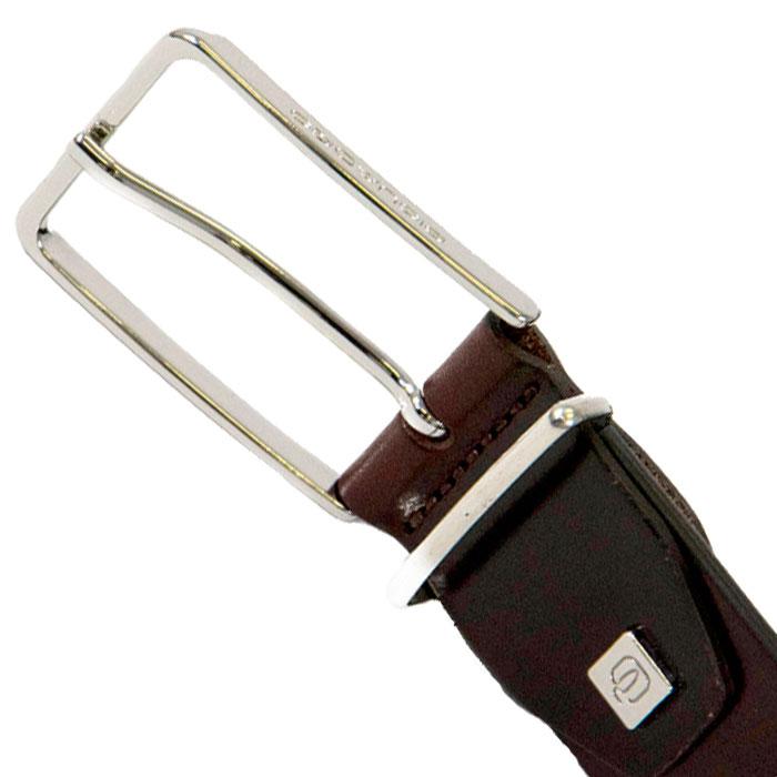Коричневый ремень Piquadro Cintura из гладкой кожи