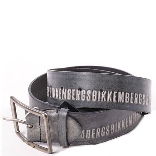 Серый ремень Bikkembergs с логотипом, фото