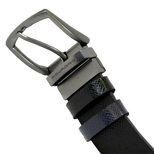 Черный мужской ремень Piquadro Cintura двусторонний, фото