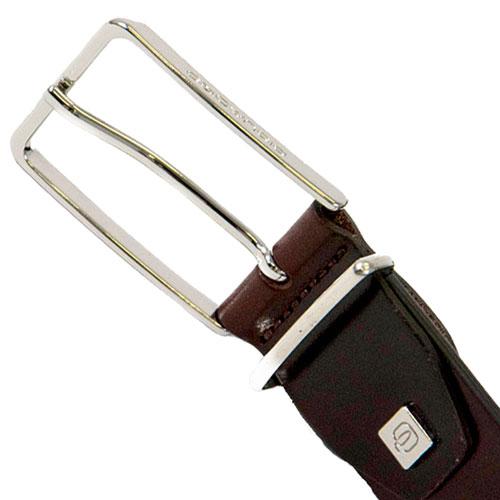 Коричневый ремень Piquadro Cintura из гладкой кожи, фото
