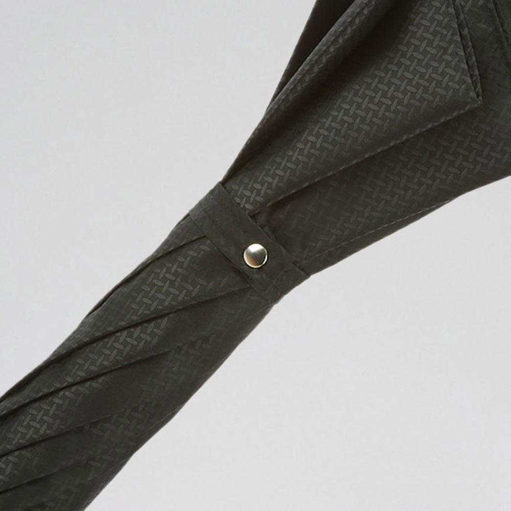 Черный зонт-трость Pasotti с посеребренной ручкой