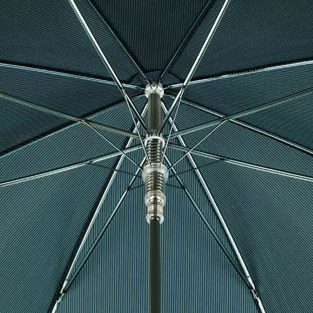 Зонт-трость бирюзового цвета Pasotti с ручкой-орлом