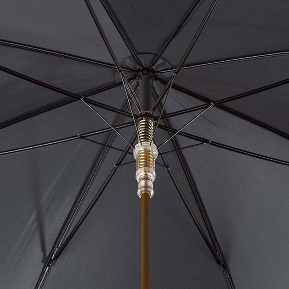 Черный зонт-трость Pasotti с ручкой в виде ротвейлера