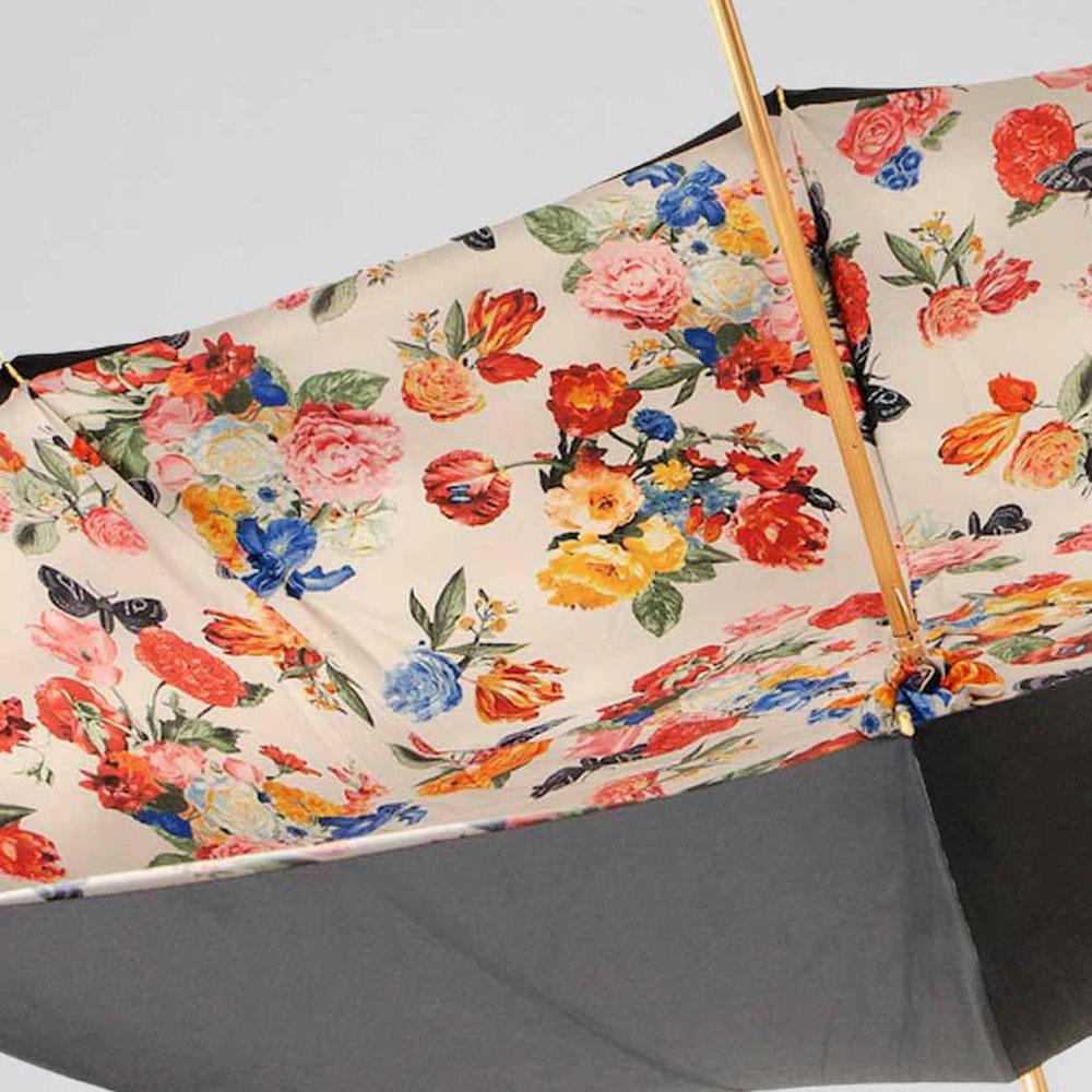 Черный зонт-трость Pasotti с латунной ручкой