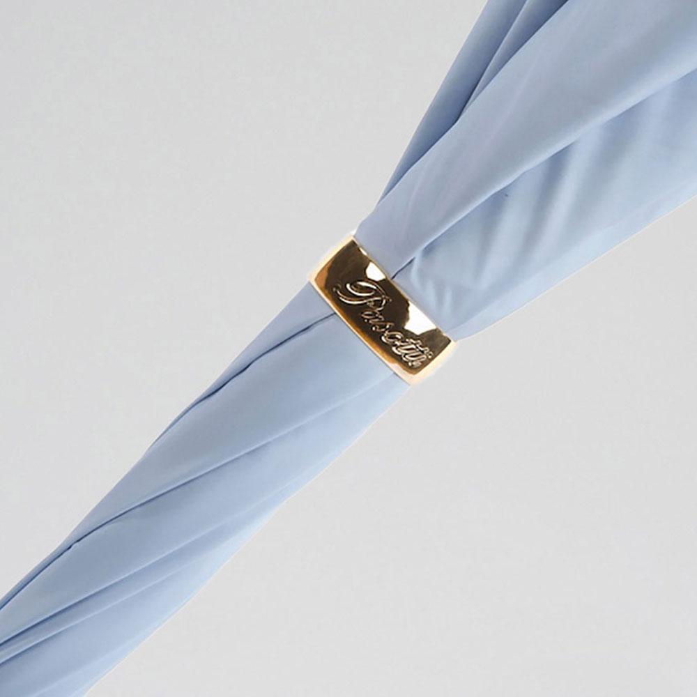 Голубой зонт-трость Pasotti с камнем на ручке
