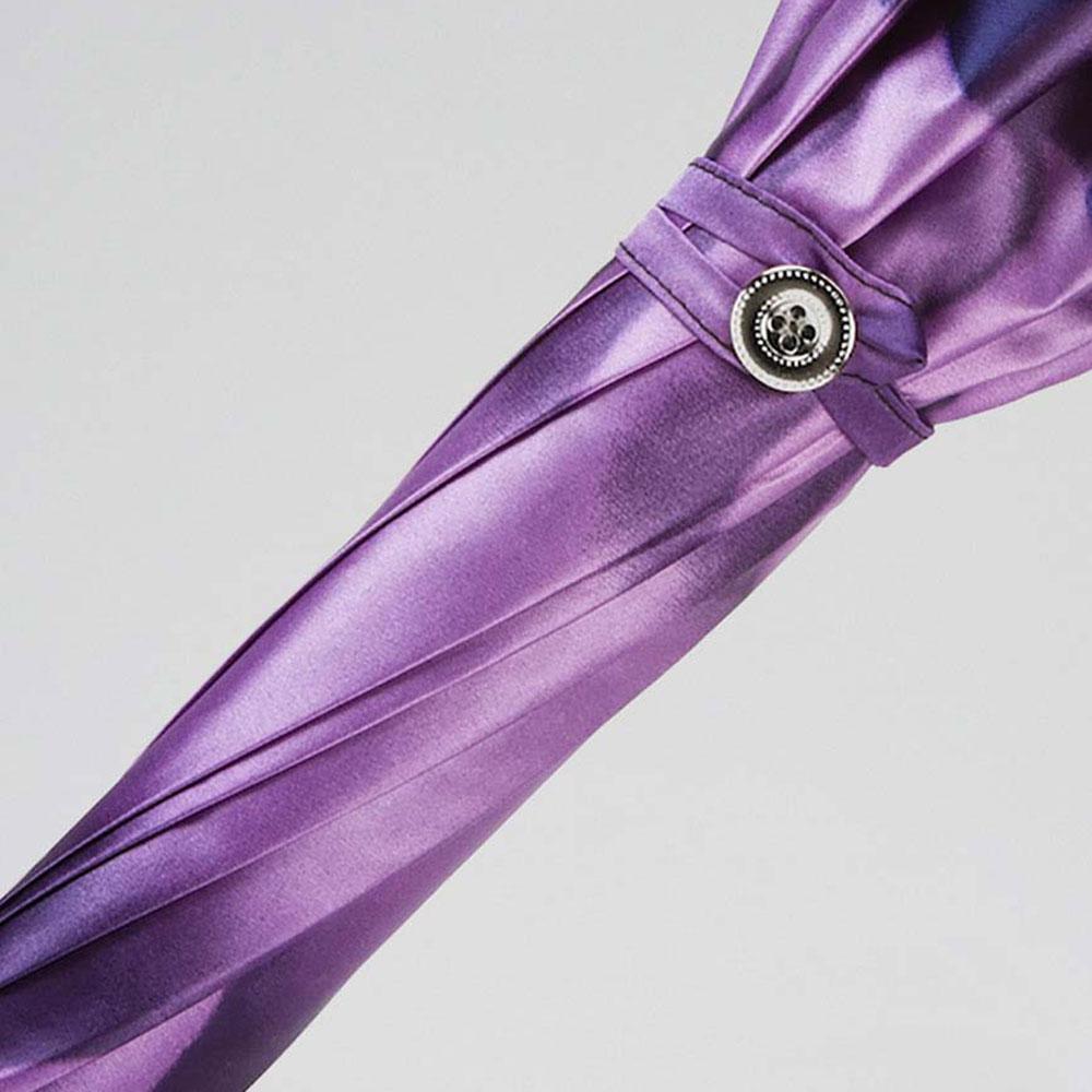 Сиреневый зонт-трость Pasotti с полупрозрачной ручкой