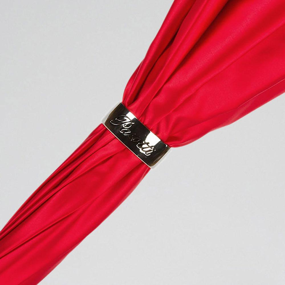 Красный зонт-трость Pasotti с божьими коровками на ручке