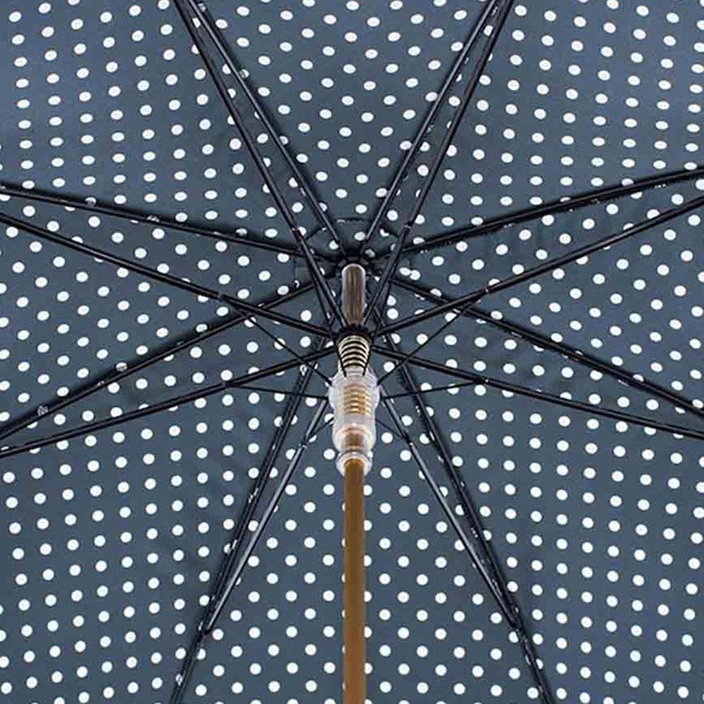 Черный зонт-трость Pasotti в горошек