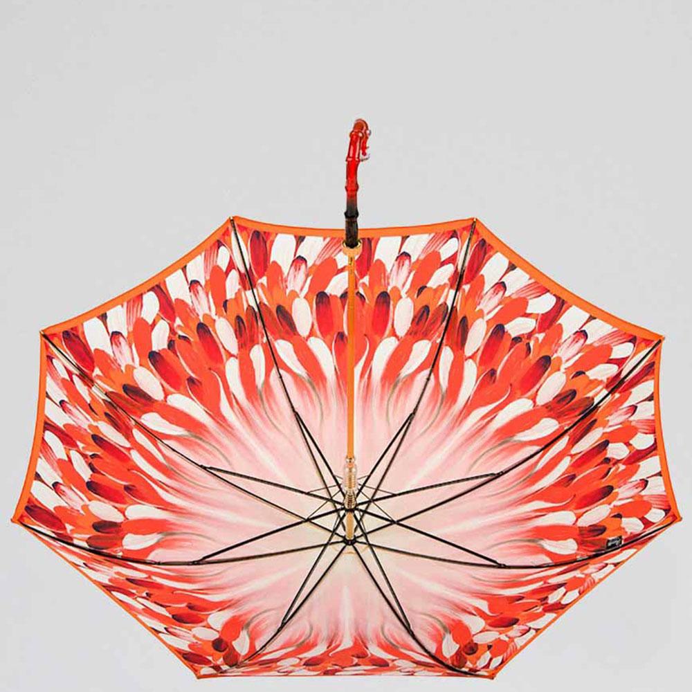 Зонт-трость Pasotti красного цвета с принтом