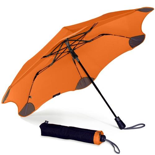 Зонт Blunt XS Metro оранжевый полуавтоматический в два сложения, фото