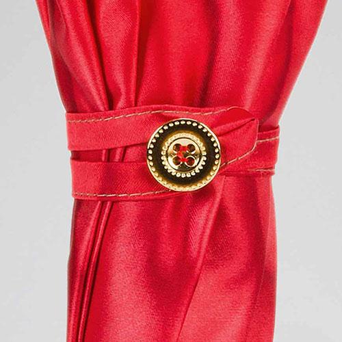 Красный зонт-трость Pasotti с растительным принтом, фото