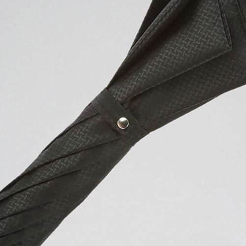 Черный зонт-трость Pasotti с посеребренной ручкой, фото