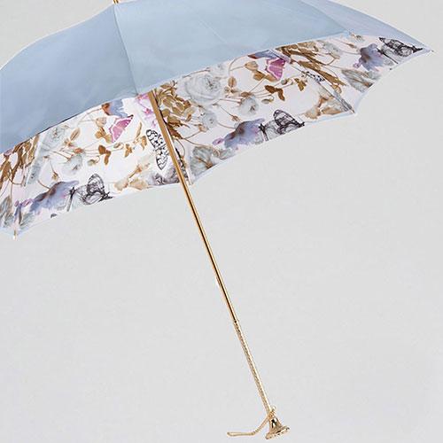 Голубой зонт-трость Pasotti с камнем на ручке, фото
