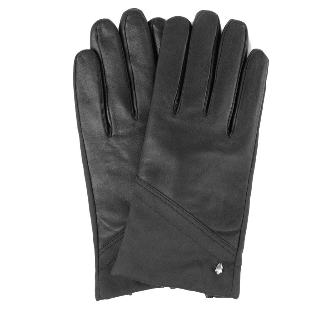 Черные мужские перчатки Cavalli Class