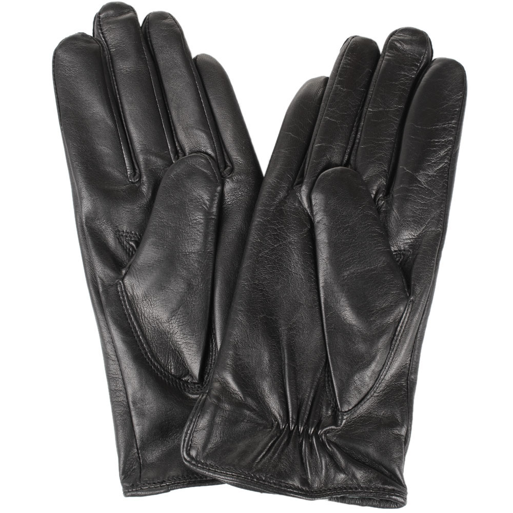 Женские кожаные перчатки Tosca Blu черного цвета