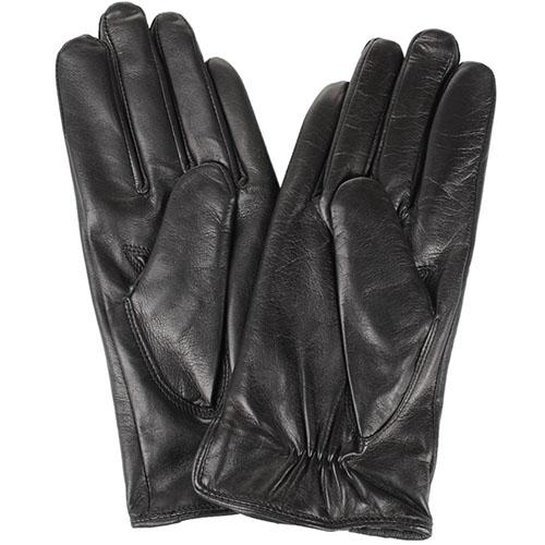 Женские кожаные перчатки Tosca Blu черного цвета, фото