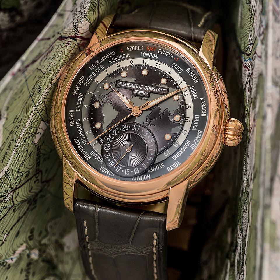 Часы Frederique Constant Worldtimer Manufacture FC-718DGWM4H4