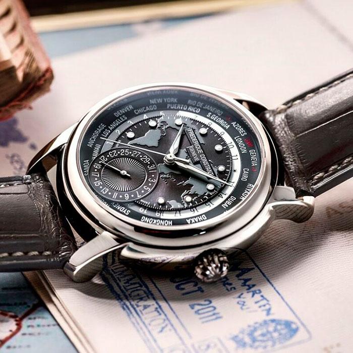 Часы Frederique Constant Worldtimer Manufacture FC-718DGWM4H6
