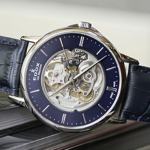 Часы Edox Les Bemonts Skeleton 85300 3 BUIN, фото