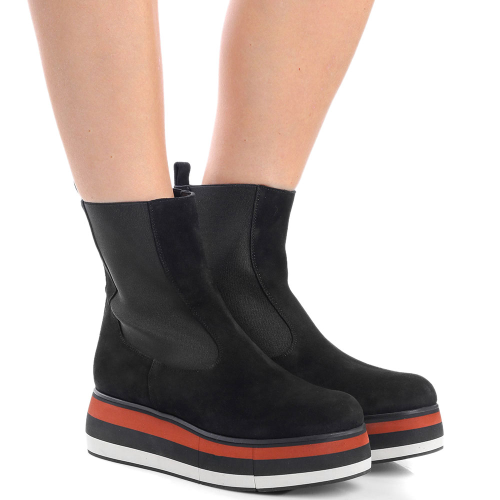 Замшевые ботинки-челси Paloma Barcelo Lilith на платформе