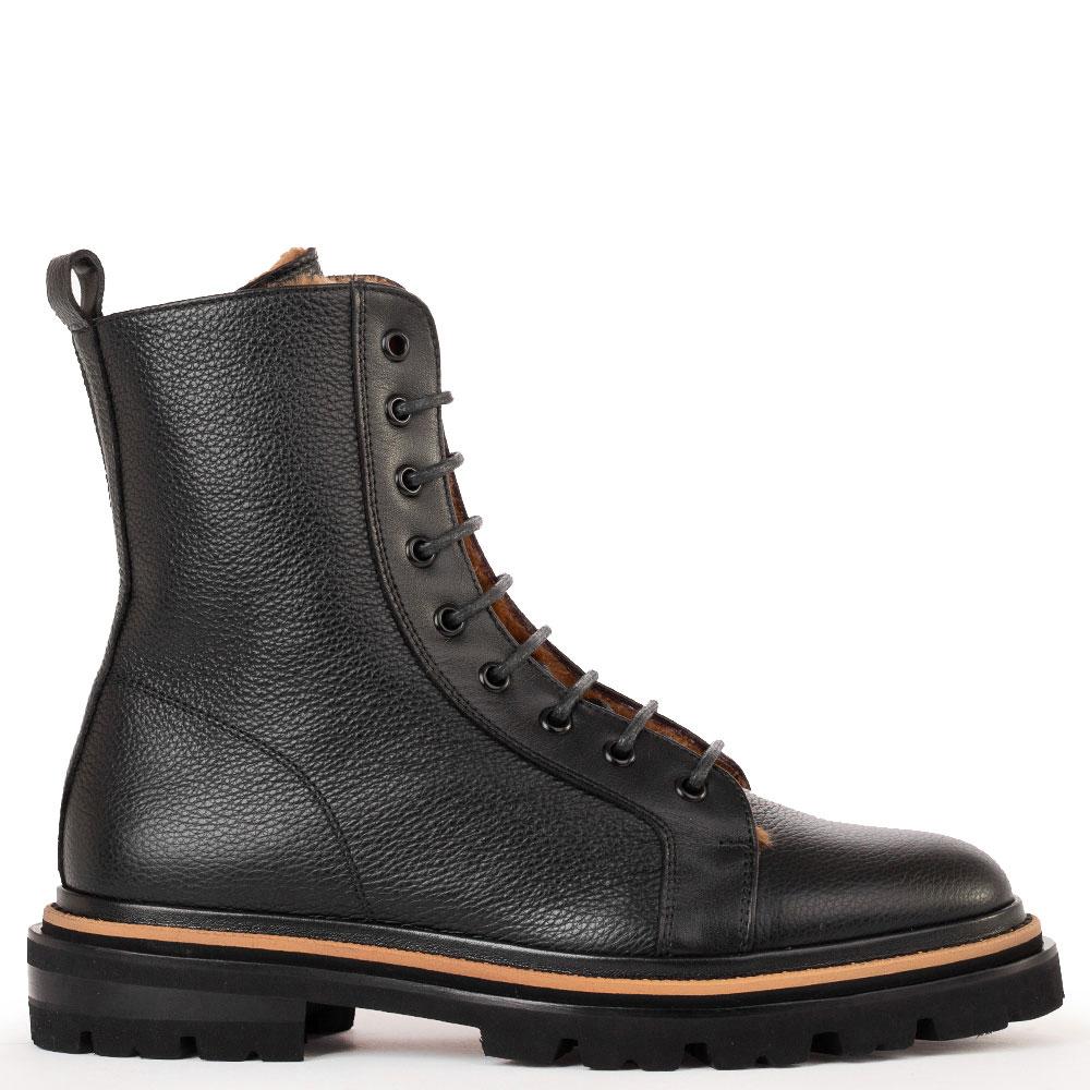 Черные ботинки Camerlengo на меху