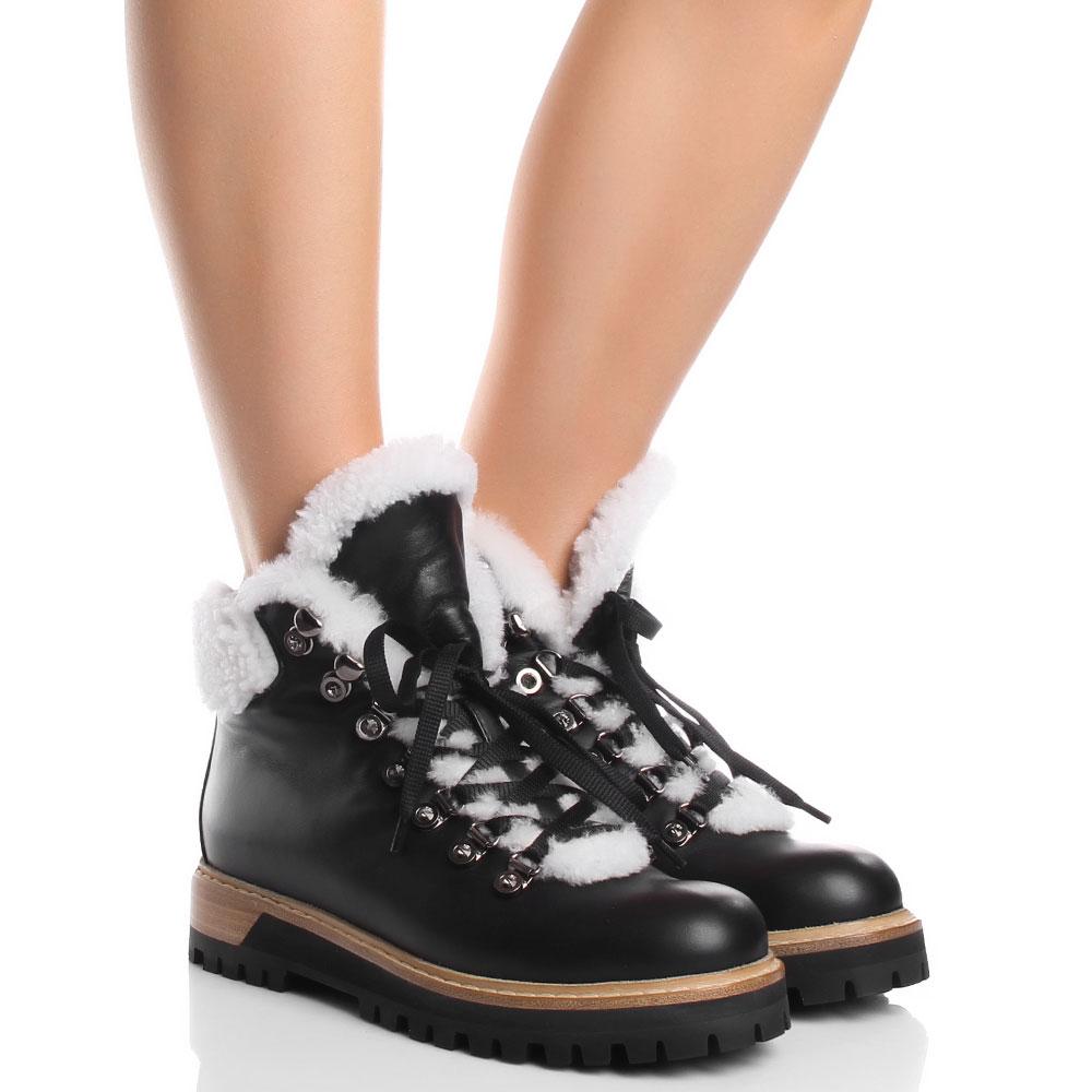 Женские ботинки Le Silla из кожи черного цвета