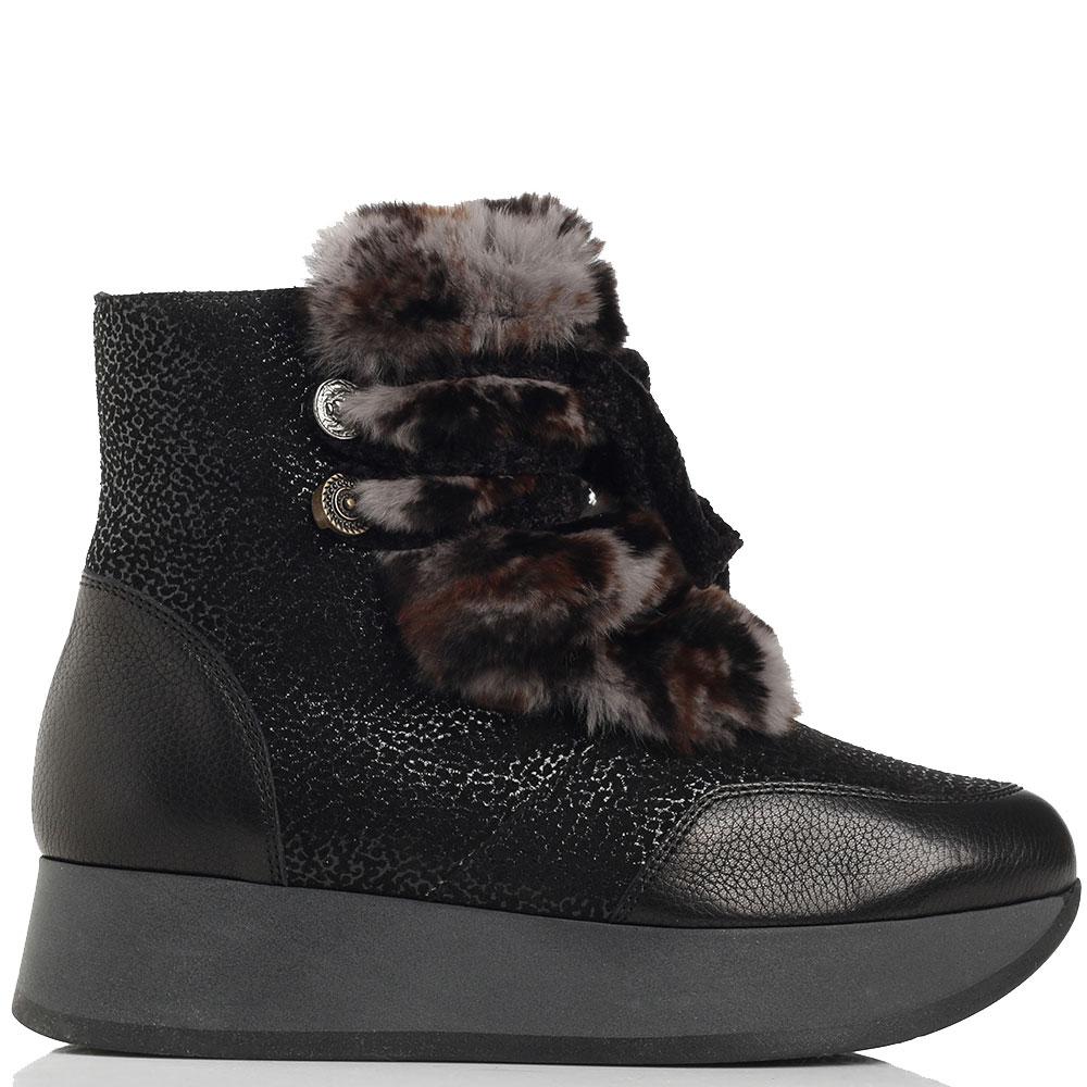 Черные ботинки Marzetti на платформе