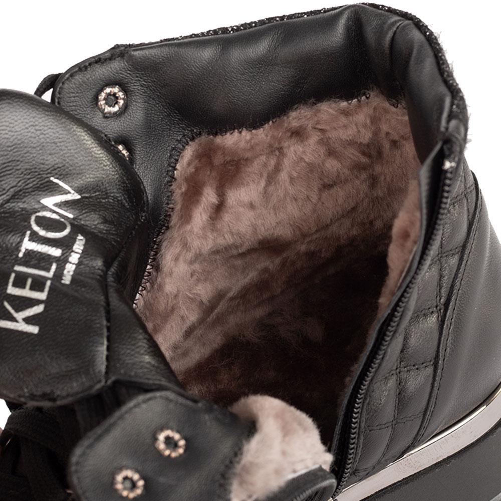 Стеганые ботинки Kelton на толстой подошве