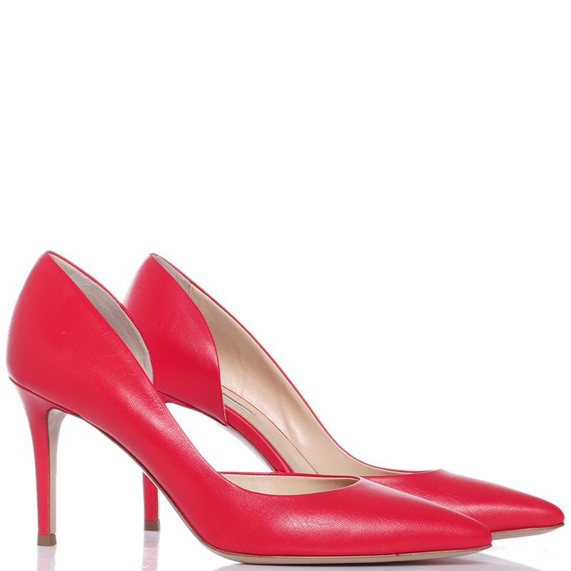 Красные туфли-лодочки Fabio Rusconi на шпильке