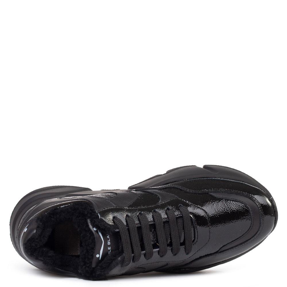 Кроссовки на меху Voile Blanche Monster из лакированной кожи
