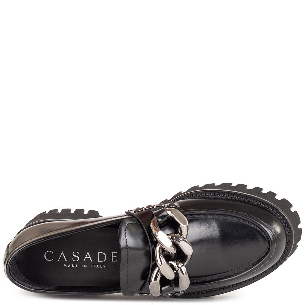 Черные туфли Casadei из гладкой кожи