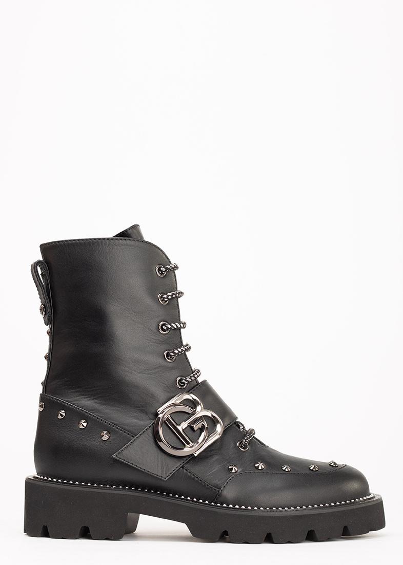 Высокие ботинки Baldinini черного цвета