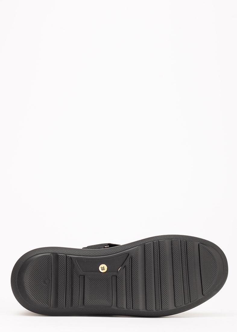 Черные ботинки Baldinini из текстиля