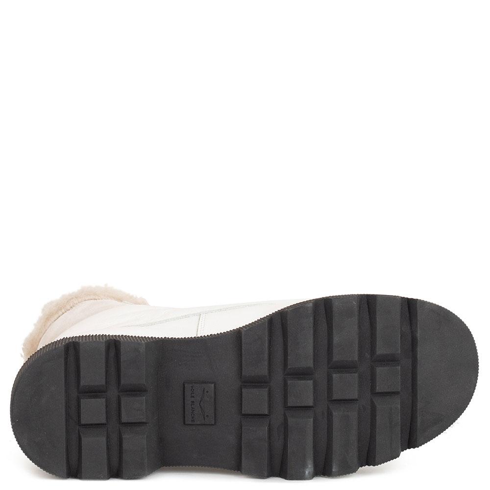 Белые ботинки Voile Blanche из гладкой кожи