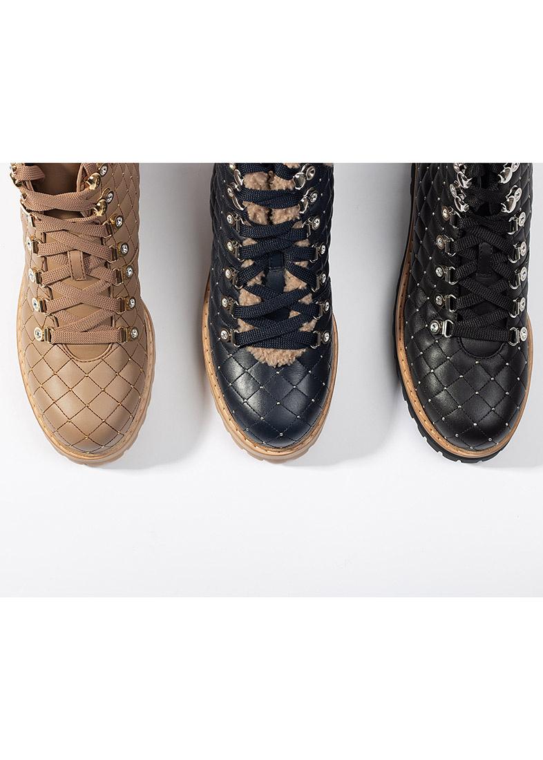 Ботинки стеганые Le Silla St. Moritz Chiffon бежевого цвета