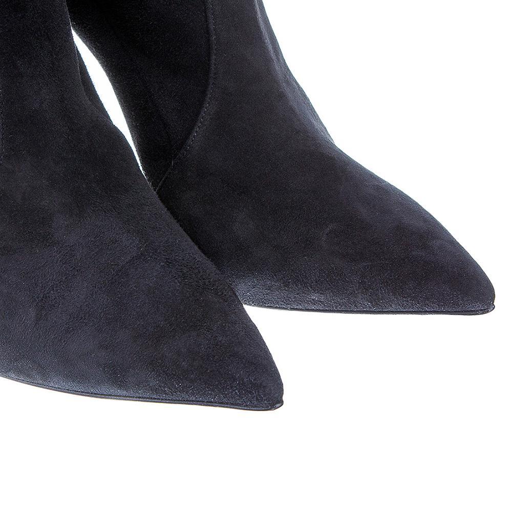 Ботфорты Casadei на высоком каблуке черного цвета