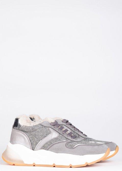 Зимние кроссовки Voile Blanche серебристого цвета, фото