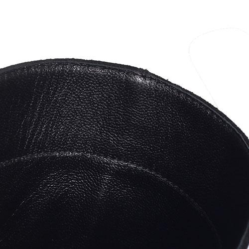 Замшевые сапоги-казаки Kennel & Schmenger черного цвета, фото