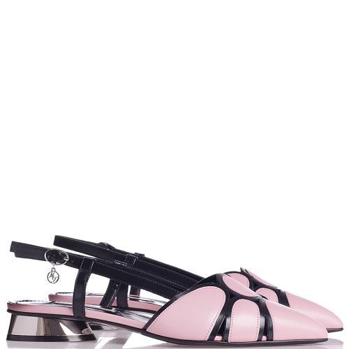 Босоножки Marino Fabiani из розовой кожи, фото