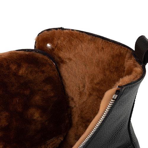 Черные ботинки Camerlengo на меху, фото