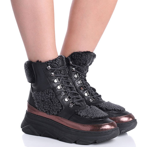 Женские ботинки Roberto Serpentini с шерстяными вставками, фото
