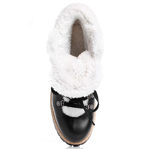 Женские ботинки Le Silla из кожи черного цвета, фото