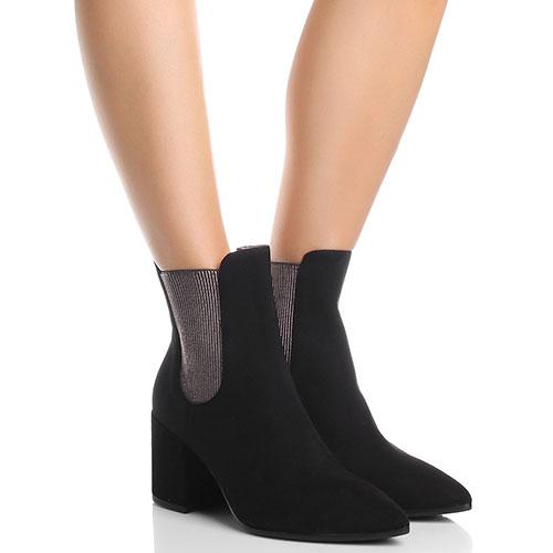 Ботинки-челси Fabio Di Luna из замши черного цвета, фото