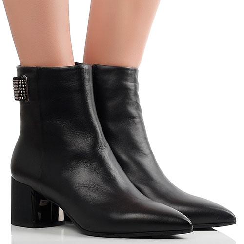 Черные ботинки Marino Fabiani с острым носком, фото