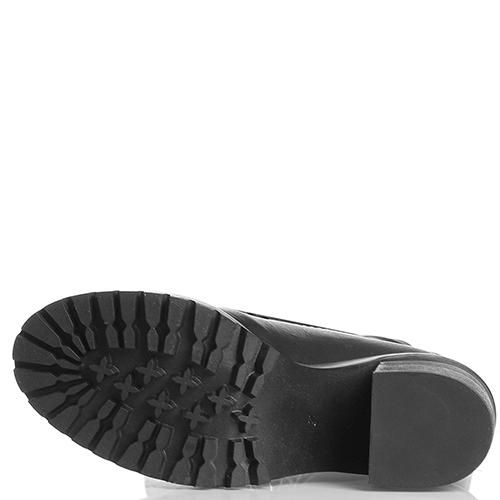 Ботфорты на шнуровке Fru.it из кожи черного цвета, фото
