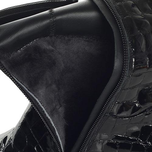 Черные сапоги Loriblu с тиснением под рептилию, фото