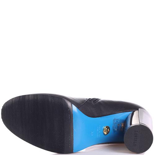 Черные ботфорты Loriblu с отворотом, фото