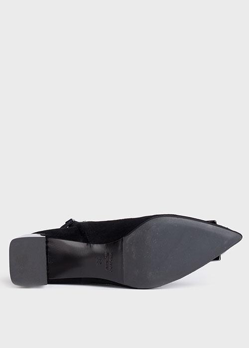 Черные ботильоны Chantal с логотипом на носке, фото