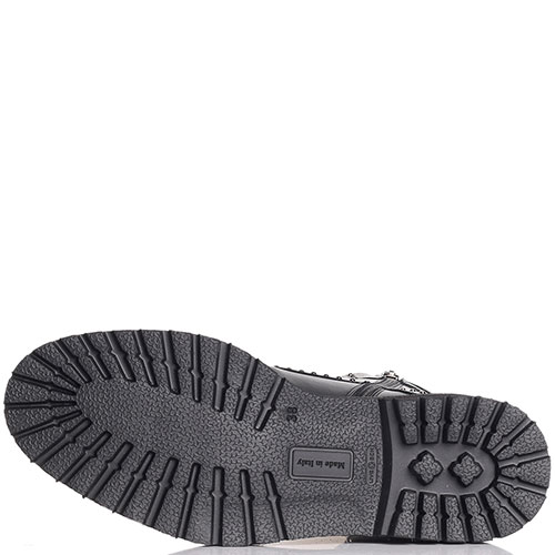 Ботинки черного цвета Angelo Bervicato в заклепках, фото